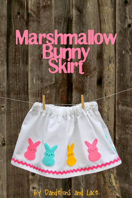 Marshmallow Bunny Skirt Tutorial by Dandelions and Lace