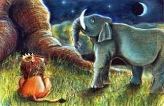 Resultado de imagen de león y elefante