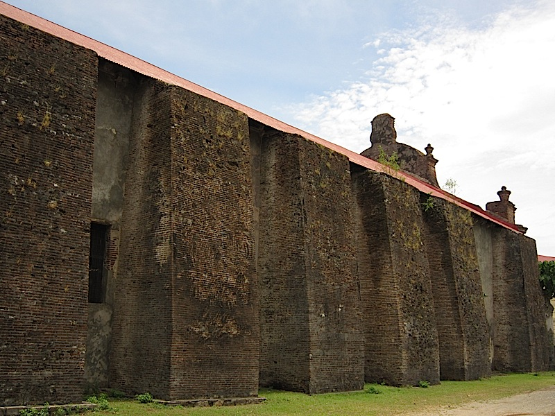 buttresses of the Church of Nuestra Señora de la Asuncion in Santa Maria, Ilocos Sur