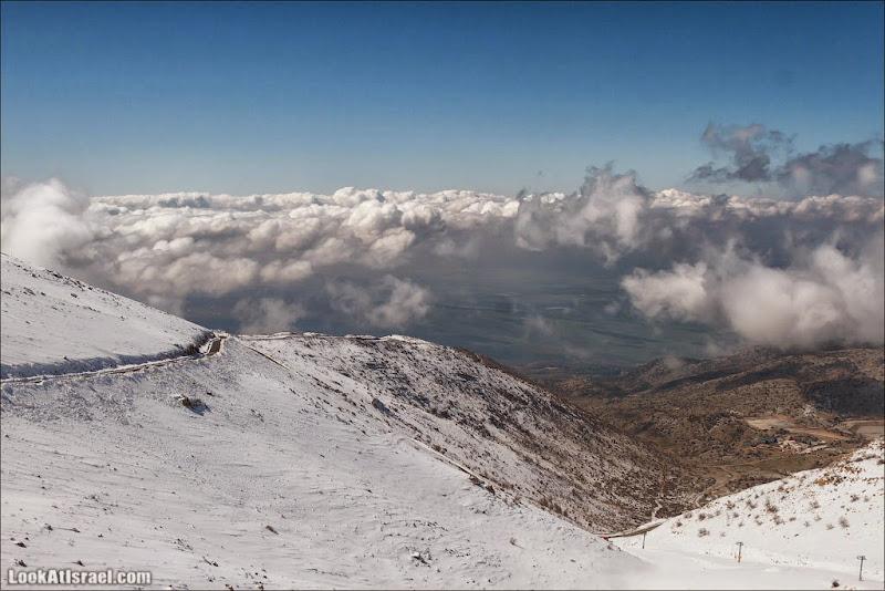 LookAtIsrael.com: Выше облаков! Выше неба! За снегом на Хермон (israel  природа дождь и снег голанские высоты галилея )