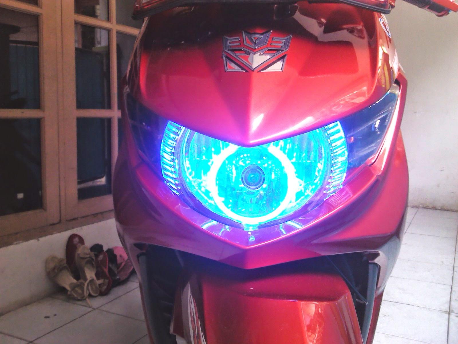 modifikasi lampu depan new megapro