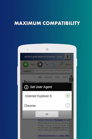 Aplikace [2.3+] Internet Browser   Starý, ale Gold PhoneCustom_MAXIMUM_COMPATIBILITY