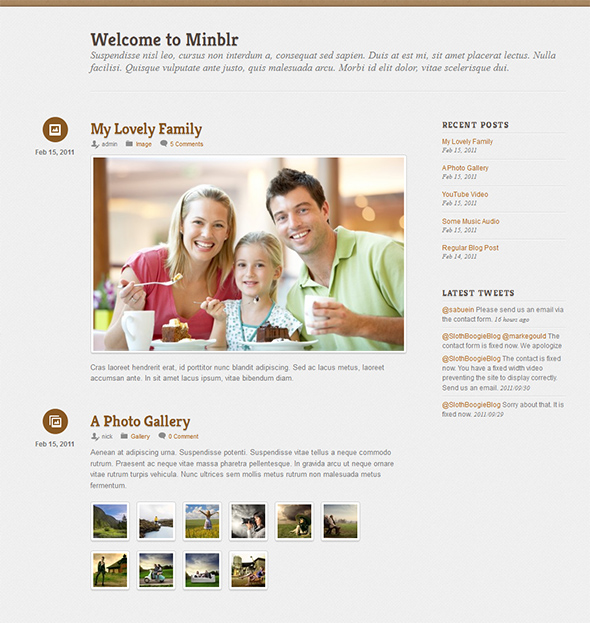 Minblr WordPress Theme