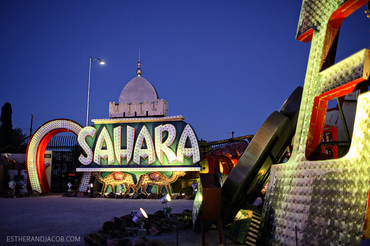 Sahara Hotel and Casino Neon Sign at the Neon Museum // Must Do in Las Vegas.