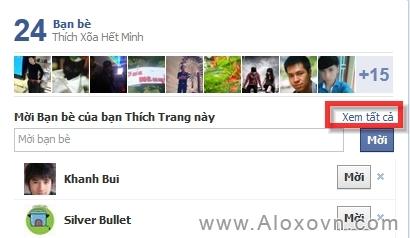 Mời tất cả bạn bè like fanpage facebook bước 1