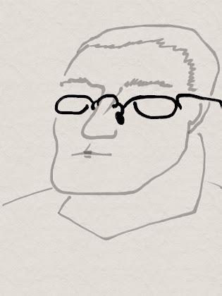 Junger Idealist mit Brillenpiercing