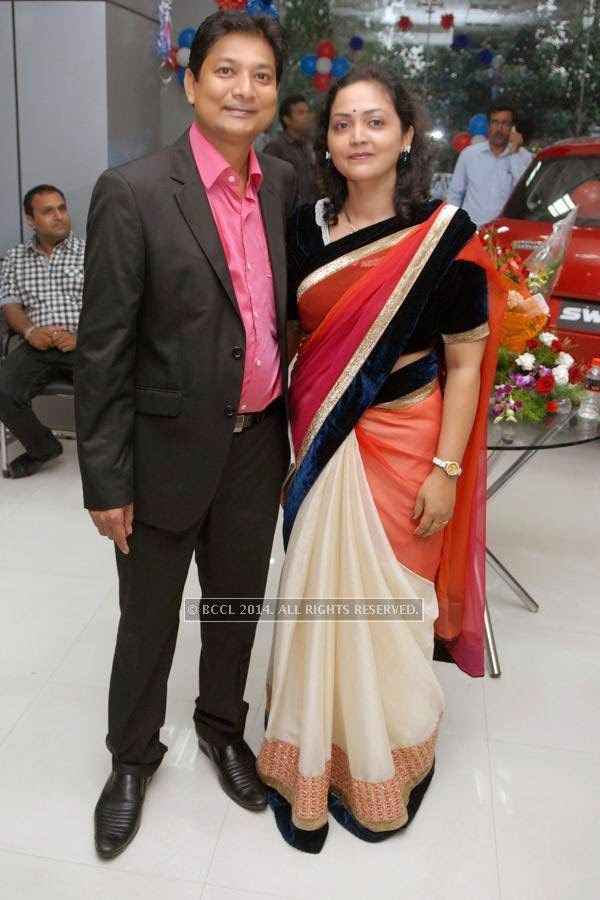 Satish and Vaishali Barbate at Vishal Barbate's do at Nag road in Nagpur.