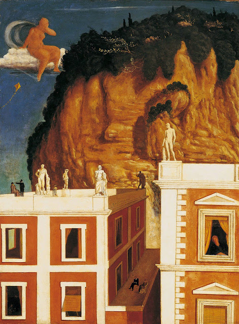 Giorgio de Chirico - Strange travelers, 1922