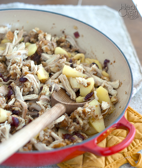cranapple turkey skillet