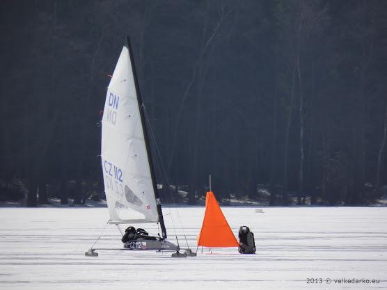 Lední jachty poprvé na Velkém Dářku