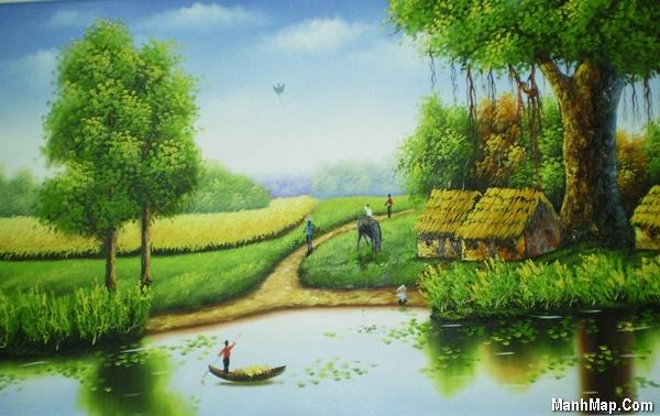 thơ quê hương với cây đa, bến nước, con đò