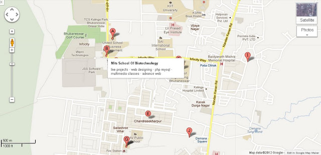 Mits School Of Biotechnology Bhubaneswar Area Map