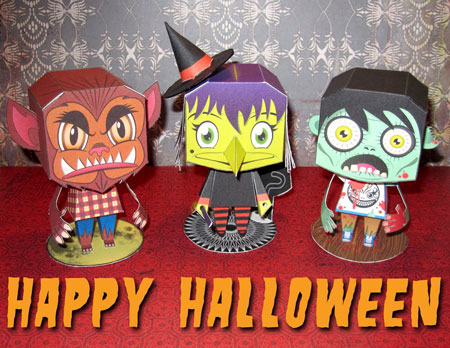 Macula Halloween Paper Toy Set