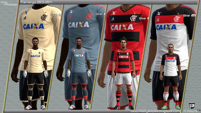 Flamengo 2013-14 Kitset Adidas - PES 2013