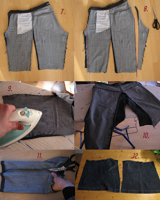 skirt out of old jeans/reconstruction part 3