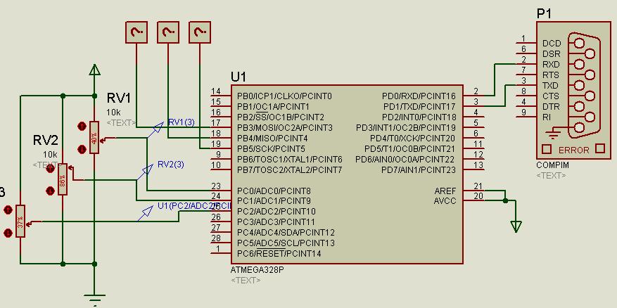 Arduino simulation on Proteus