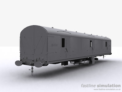 Fastline Simulation: Generic GUV shape with underframe the majority of equipment added.