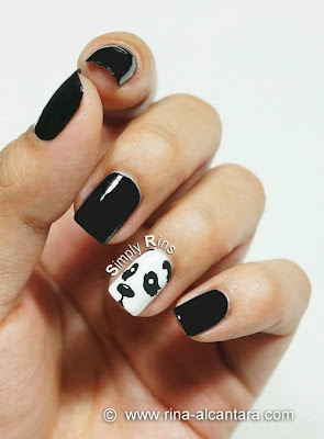 Peeping Panda Nail Art by Simply Rins