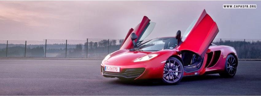 Capas para Facebook McLaren Vermelha