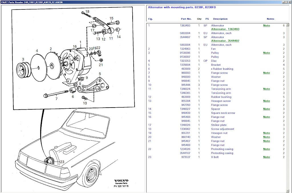 Volvo Tensioning Arm 1346024