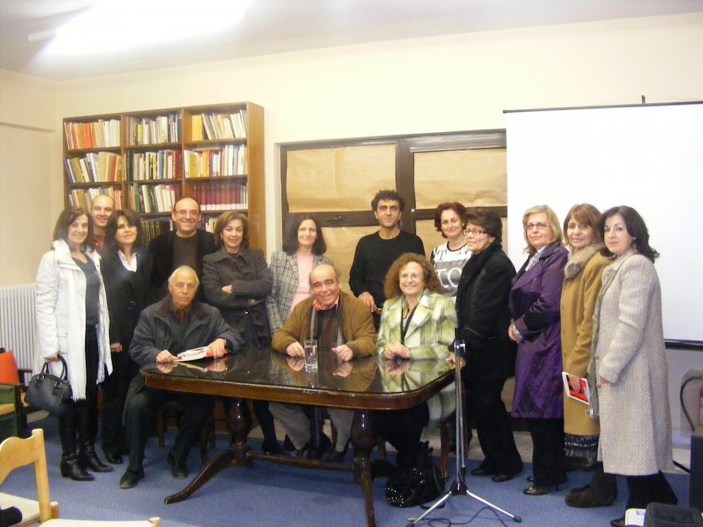 Από τη συνάντση της Ομάδας με τον Θανάση Βαλτινό