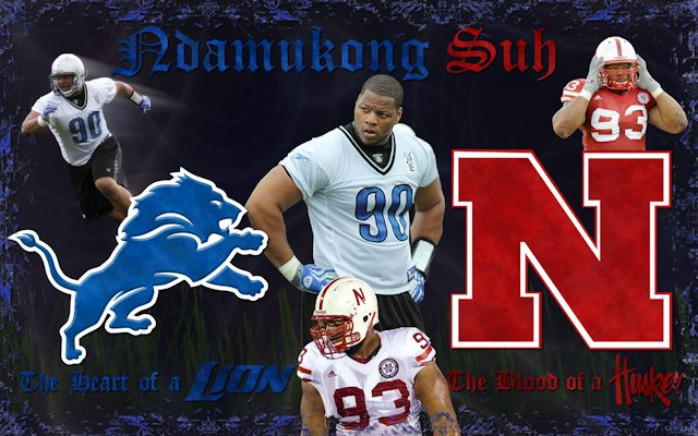 Ndamukong Suh Heart of a Lion, Blood of a Husker Wallpaper