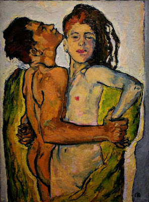 Koloman Moser - Lovers, 1913