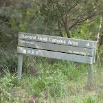 Sign to Diamond Head camping ground