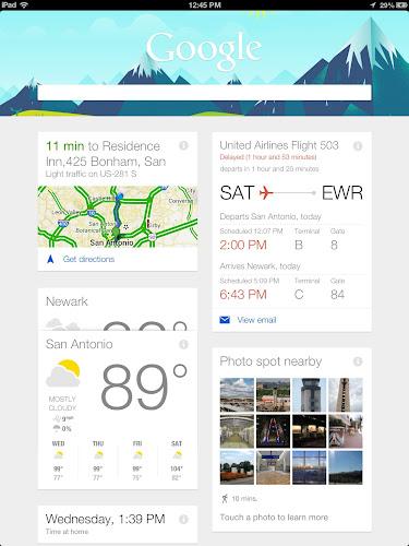 My Google Now from San Antonio Airport