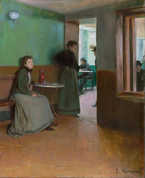 Santiago Rusiñol - Interior of a Café