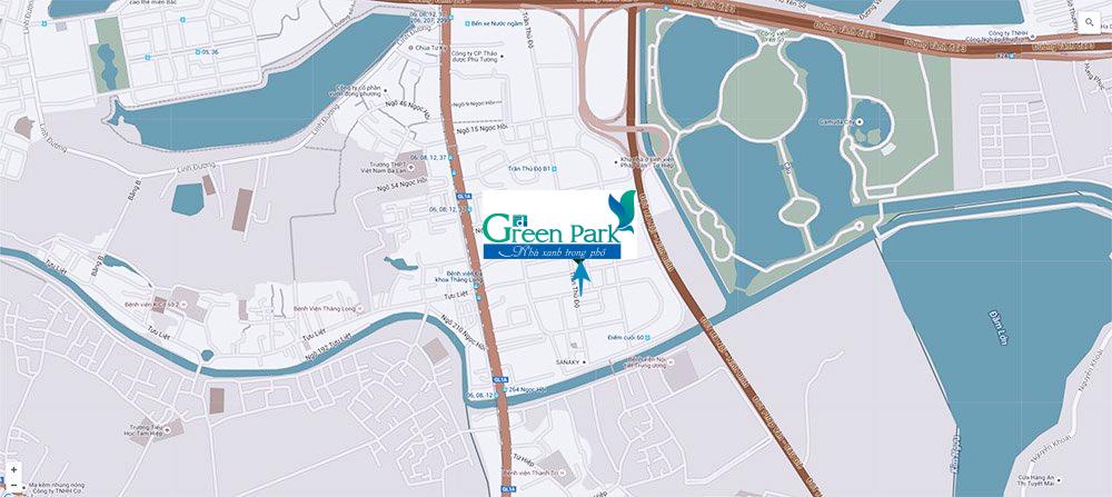 Vị trí dự án PD Green Park Trần Thủ Độ
