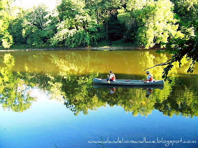 canoeing on the cedar river
