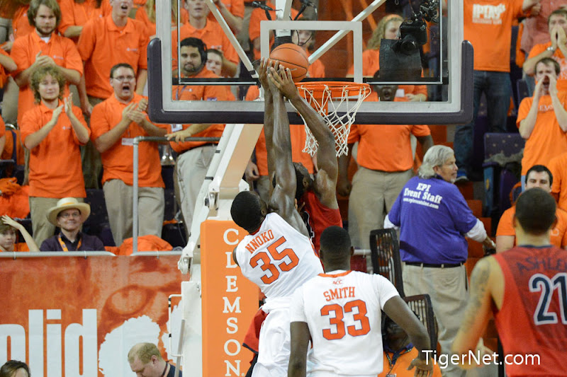 Clemson vs Arizona Photos - 2012, Arizona, Basketball, Landry Nnoko