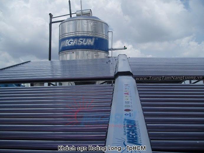 Hệ thống máy nước nóng NLMT tập trung MEGASUN tại Khách sạn Hoàng Long, TP.HCM