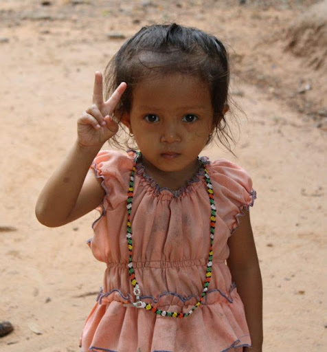 One of the tiny faces of Cambodia. The Definitive Guide to Moving to Southeast Asia: Cambodia