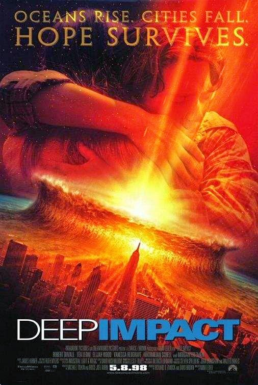 Poster Of Deep Impact (1998) Full Movie Hindi Dubbed Free Download Watch Online At Alldownloads4u.Com