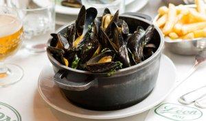 Bruselas Valonia: Los mejillones son uno de los platos típicos de Bélgica