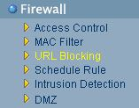 Firewall, URL Bloking
