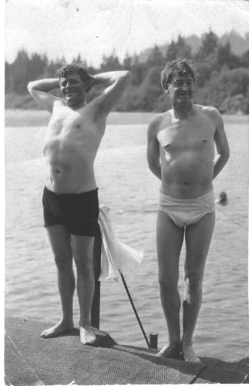 Wilk i Grek, czyli Jack London oraz George Sterling. Zdjęcie ze zbiorów  UC Berkeley, Bancroft Library