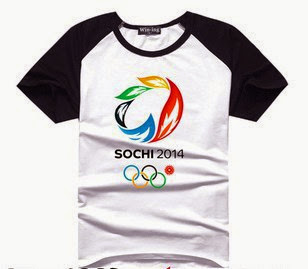 Hot Pattern Men T-shirt Russia Sochi Olympics Rings Flo