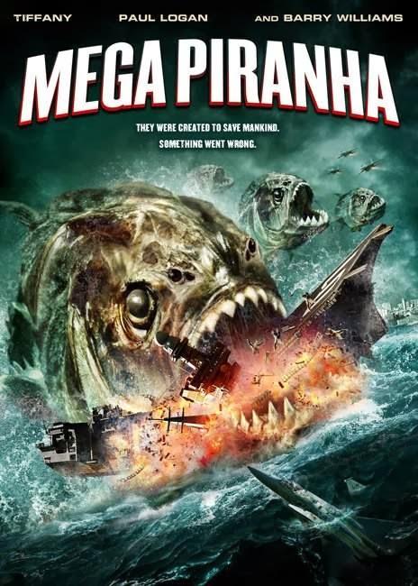 Poster Of Mega Piranha (2010) Full Movie Hindi Dubbed Free Download Watch Online At Alldownloads4u.Com