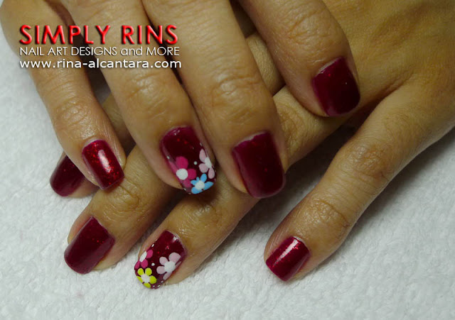 Red Nail Art Design by Simply Rins