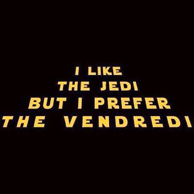 jedi, vendredi, citation, funny, happy journal