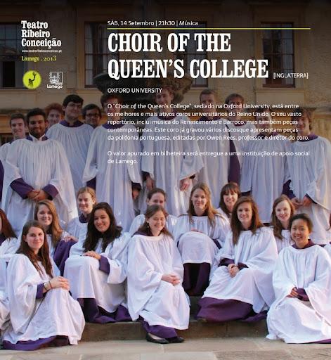Choir of The Queen´s College atua sábado à noite em Lamego - Teatro Ribeiro Conceição