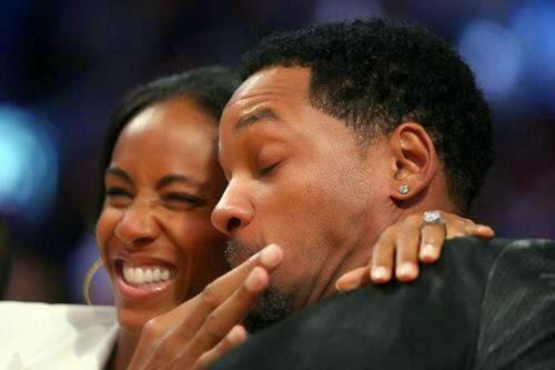 Will Smith And Jada Pinkett Smith Kissing