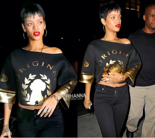 Rihanna in A.L.C, Pushbutton, Acne, Alexander Wang at Emilio's Ballato