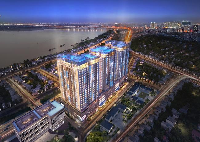 Mặt bằng chung cư Sun Grand City Ancora số 3 Lương Yên
