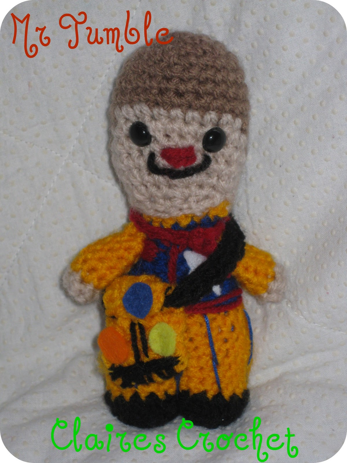 Claires Crochet: Mr Tumble!!