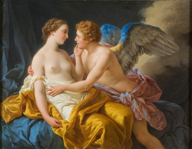 Louis-Jean-François Lagrenée - Amor and Psyche.