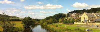 The River Coquet at Rothbury in Summer